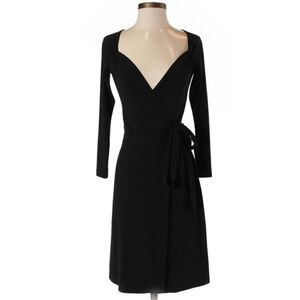 Norma Kamali black wrap dress 1XL